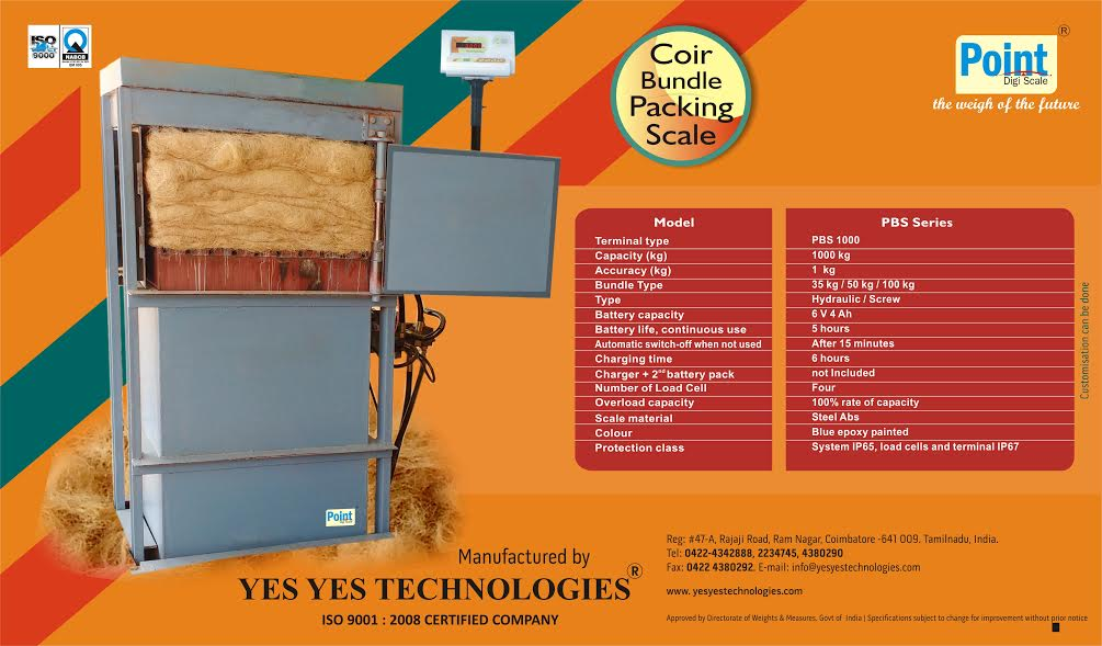 Coir Bundle Packing Machine